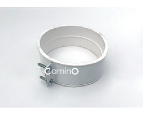 Хомут стальной с резиновой муфтой для соединения труб Ø80