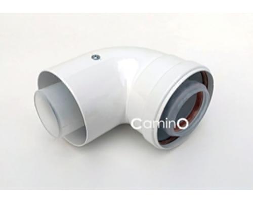 Угол 90° Ø60/100 mm  Condensing   (м-п)