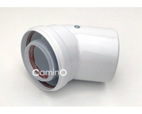 Угол 45° Ø80/125mm Condensing  (м-п)